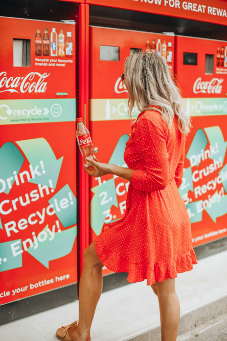 Пункт приема бутылок Coca Cola